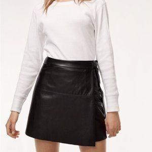 Aritzia Like New Size L Leather Wrap Skirt
